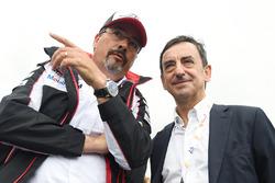Rob Leupen, Toyota Racing, Teammanager; Pierre Fillon, ACO-Präsident
