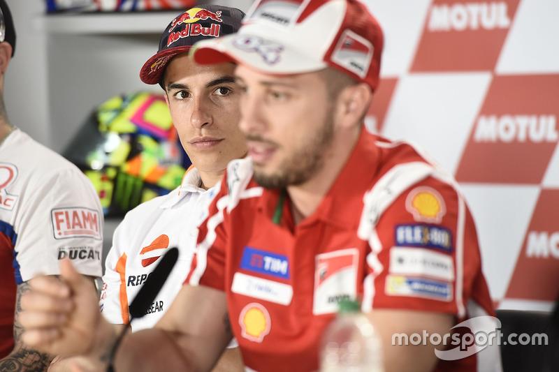 Marc Marquez, Repsol Honda Team, Andrea Dovizioso, Ducati Team