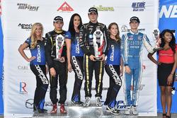 Podium: race winner Santiago Urrutia, Belardi Auto Racing, second place Juan Piedrahita, Team Pelfrey, third place Colton Herta, Andretti Steinbrenner Racing
