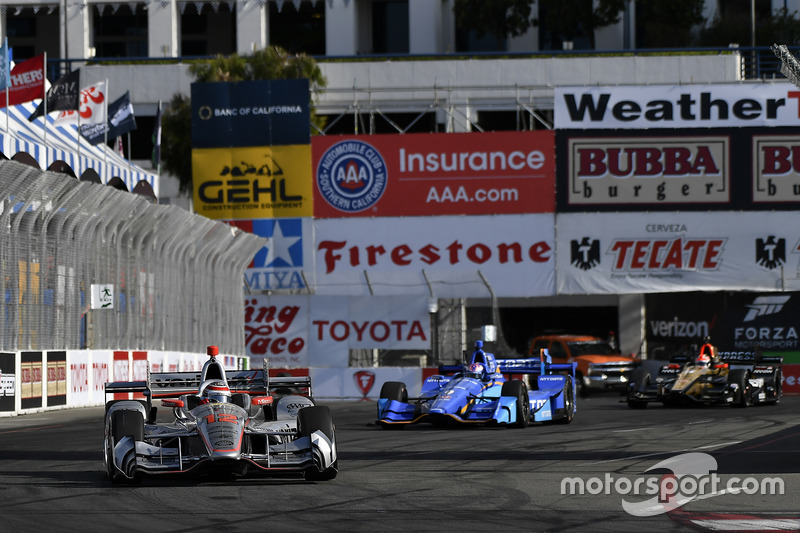Will Power, Team Penske, Chevrolet; Scott Dixon, Chip Ganassi Racing, Honda
