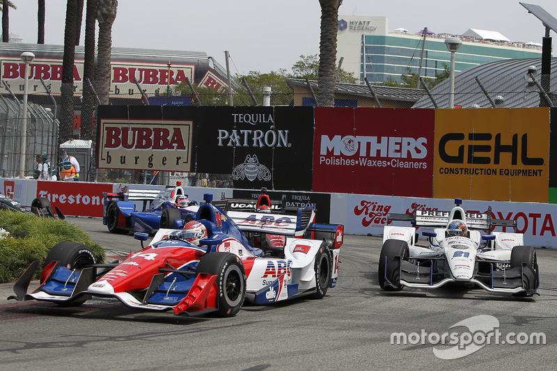 Carlos Munoz, A.J. Foyt Enterprises, Chevrolet; J.R. Hildebrand, Ed Carpenter Racing, Chevrolet