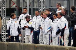 Antonio Felix da Costa, Martin Tomczyk, Timo Glock, Timo Scheider, Augusto Farfus, Maxime Martin, Bruno Spengler und Dirk Adorf