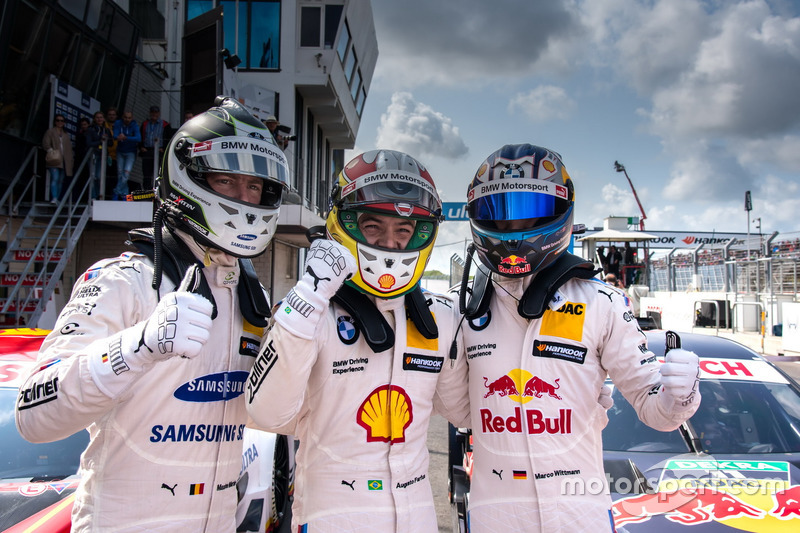 Top 3 de clasificación, Maxime Martin, BMW Team RBM, BMW M4 DTM, Polesitter Augusto Farfus, BMW Team RMG, BMW M4 DTM, Marco Wittmann, BMW Team RMG, BMW M4 DTM