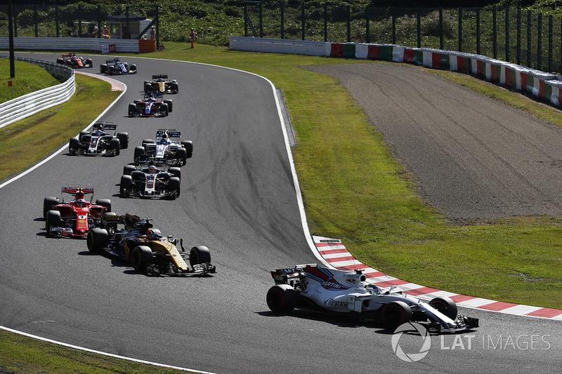 Felipe Massa, Williams FW40, Nico Hulkenberg, Renault Sport F1 Team RS17, Kimi Raikkonen, Ferrari SF70H