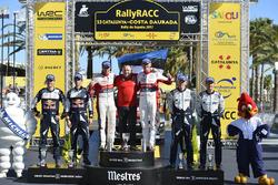 Podium: Winners Kris Meeke, Paul Nagle, Citroën C3 WRC, Citroën World Rally Team, second place Sébastien Ogier, Julien Ingrassia, Ford Fiesta WRC, M-Sport, third place Ott Tänak, Martin Järveoja, Ford Fiesta WRC, M-Sport