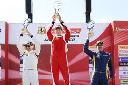 Trofeo Pirelli Am podium: winner Brent Holden, second place Jean-Claude Saada, third place Marc Muzzo