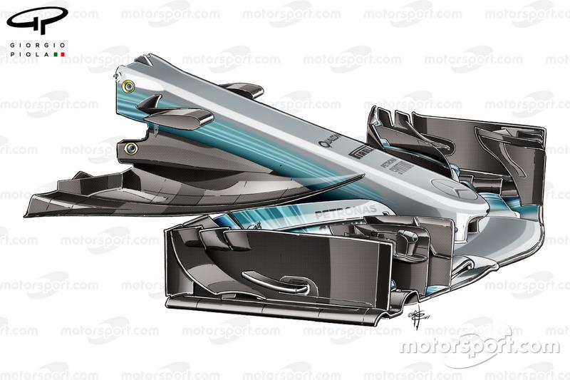 Morro estrecho del Mercedes W08, GP de España