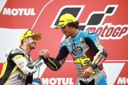 Podium: second place Thomas Luthi, CarXpert Interwetten, Race winner Franco Morbidelli, Marc VDS
