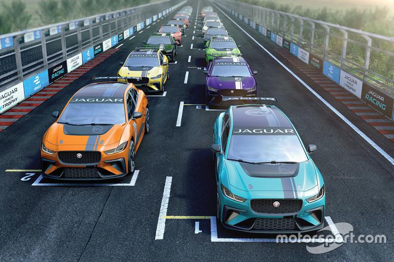 Simulasi balapan Jaguar I-PACE eTROPHY