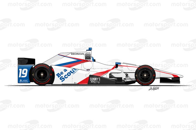#19 - Ed Jones, Dale Coyne Racing Honda