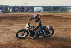 Nicky Hayden on the dirt track