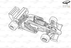 Vue d'ensemble détaillée de la Toleman TG184