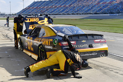 Brendan Gaughan, Richard Childress Racing Chevrolet makes a pit stop