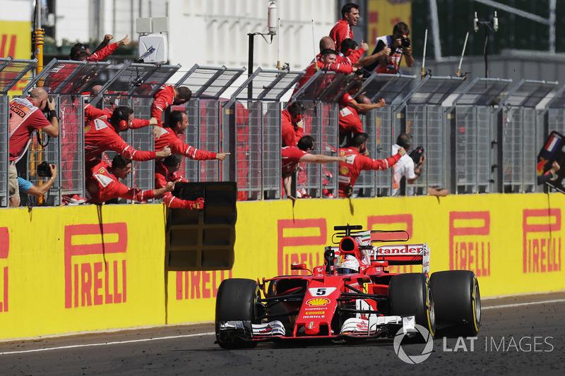 Переможець гонки Себастьян Феттель, Ferrari SF70-H