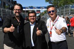 Denis Coderre, Mayor of Montreal, with Alejandro Agag, Formula E CEO