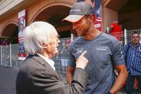 Bernie Ecclestone, Chairman Emeritus of Formula 1, Jenson Button, McLaren