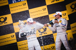 Подіум: Маро Енгель, Mercedes-AMG Team HWA, Mercedes-AMG C63 DTM, та Бруно Спенглер, BMW Team RBM, B