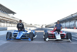 The 2018 Chevrolet and Honda IndyCar with Juan Pablo Montoya and Oriol Servia