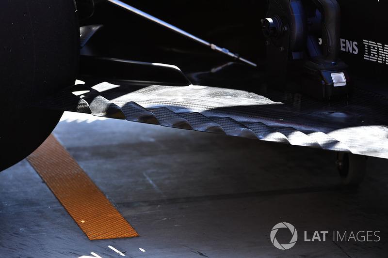 Renault RS17: Unterboden