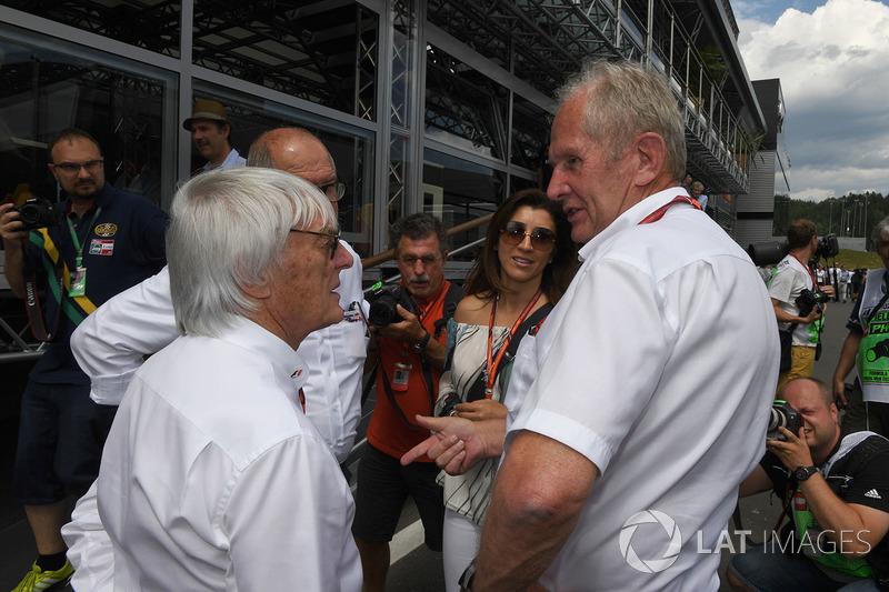 Bernie Ecclestone, Dr Helmut Marko, Red Bull Motorsport Consultant