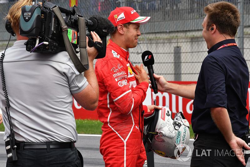 Davide Valsecchi, Sky ItaliaDavide Valsecchi, Sky Italia, Sebastian Vettel, Ferrari