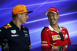 Max Verstappen, Red Bull Racing and Sebastian Vettel, Ferrari in the Press Conference