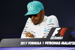 Lewis Hamilton, Mercedes AMG F1, in the press conference
