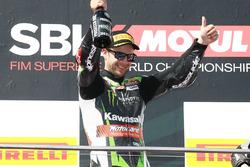 Podium : Jonathan Rea, Kawasaki Racing, vainqueur de la Course 1