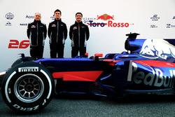 Franz Tost, Ben Waterhouse, James Key, mit dem Toro Rosso STR12
