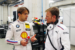 Augusto Farfus and Stefan Reinhold, Team Principal BMW Team RMG