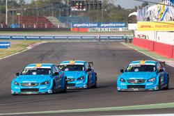 Nicky Catsburg, Thed Björk, Nestor Girolami, Polestar Cyan Racing, Volvo S60 Polestar durante la calificación MAC3