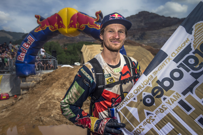 Taddy Blazusiak Poses For A Portrait At Finish At Enduro