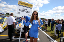 Grid girl of Sam Tordoff, Team JCT600 with GardX