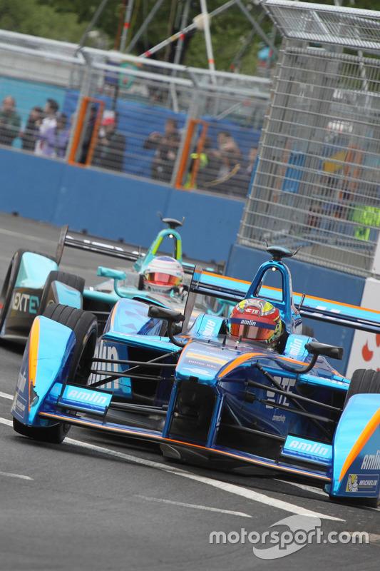 Simona de Silvestro, Amlin Andretti Formula E Team, und Nelson Piquet Jr., NEXTEV TCR Formula E Team