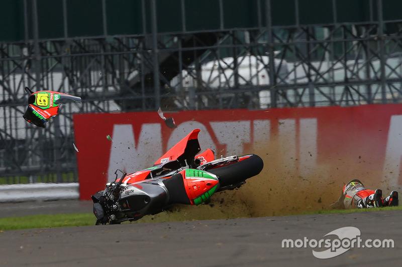 Alvaro Bautista, Aprilia Racing Team Gresini kaza