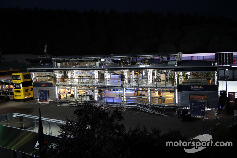 The Red Bull Energy Station at night