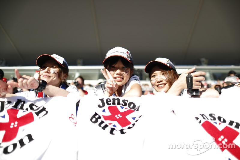 Japanische Fans von Jenson Button