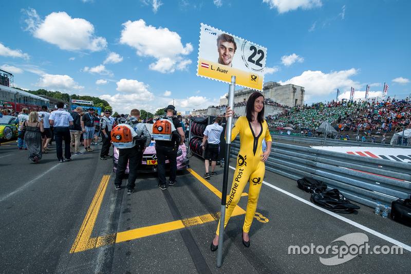 Grid girl, Lucas Auer, Mercedes-AMG Team Mücke, Mercedes-AMG C63 DTM