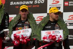 Podium: third place Will Davison and Jonathon Webb, Tekno Autosports Holden