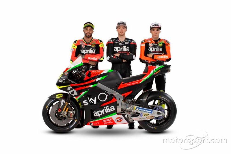 Андреа Янноне, Бредлі Сміт, Алейш Еспаргаро, Aprilia Racing Team Gresini