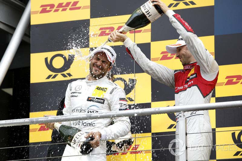 Gary Paffett, Mercedes-AMG Team HWA, René Rast, Audi Sport Team Rosberg