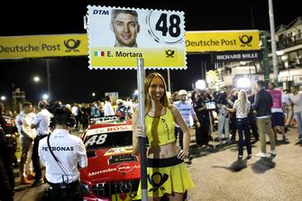 Grid girl of Edoardo Mortara, Mercedes-AMG Team HWA