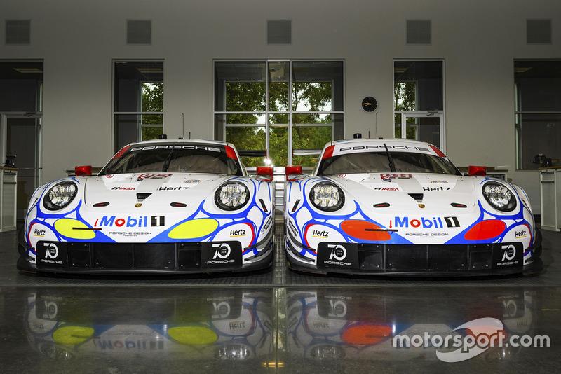 Presentación de la decoración del Porsche Team