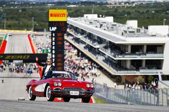 Valtteri Bottas, Mercedes AMG F1, nella drivers parade