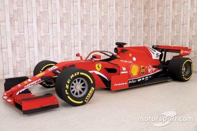 Une F1 en carton