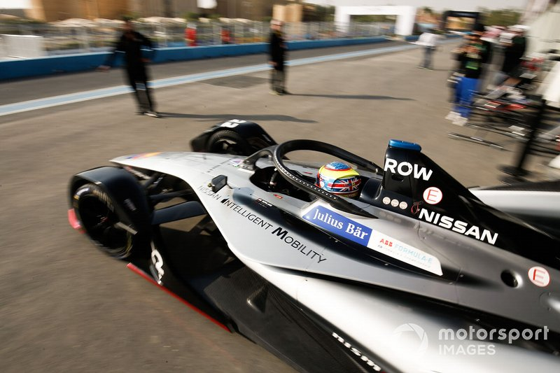 Oliver Rowland, Nissan e.Dams, Nissan IMO1, leaves the garage