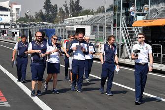 Williams Racing walk the track