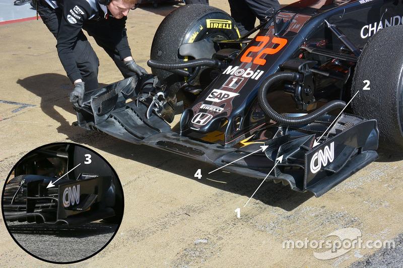 Detail Frontflügel, McLaren MP4-31