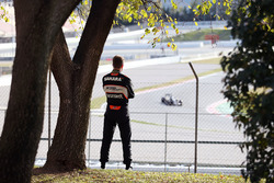 Nico Hulkenberg, Sahara Force India F1 watches the action