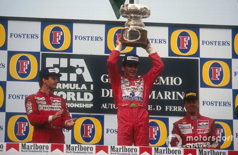 Ayrton Senna, McLaren, Gerhard Berger, McLaren, J.J.Lehto, Dallara Judd